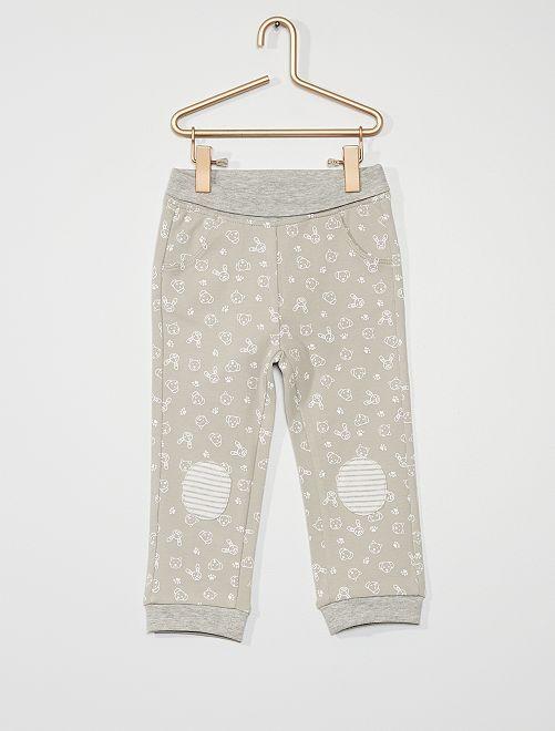 Pantalon imprimé en jersey                             gris