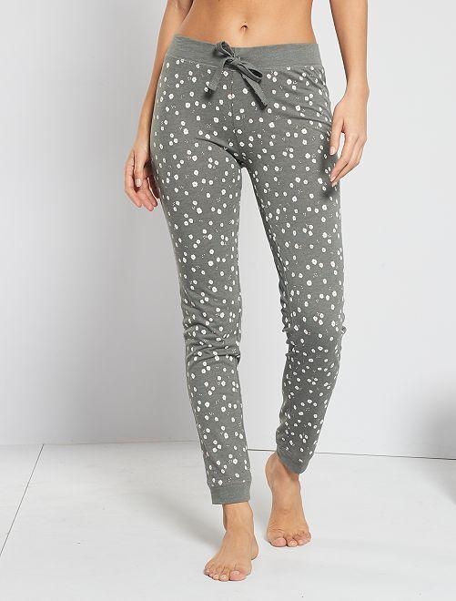 Pantalon imprimé fleuri                                                                 kaki