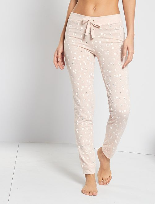 Pantalon imprimé fleuri                                                                 rose