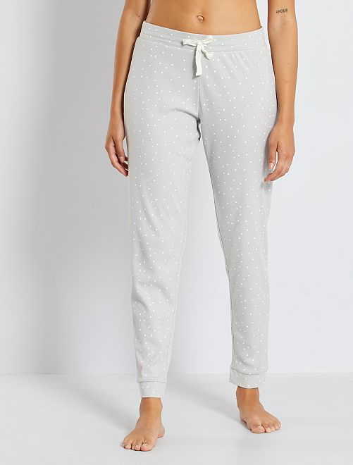 Pantalon imprimé                                                                 gris