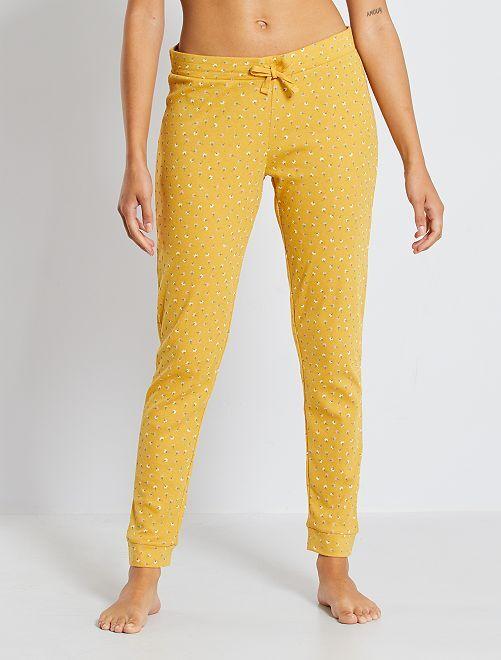 Pantalon imprimé                                                                 jaune