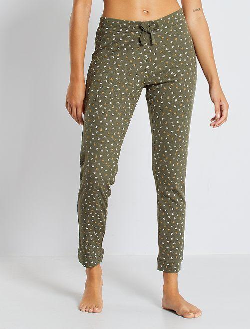Pantalon imprimé                                                                 kaki