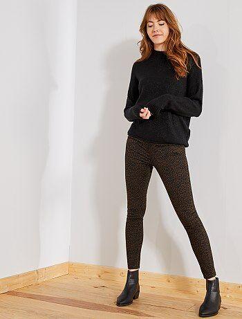 Femme du 34 au 48 - Pantalon imprimé 'léopard' - Kiabi