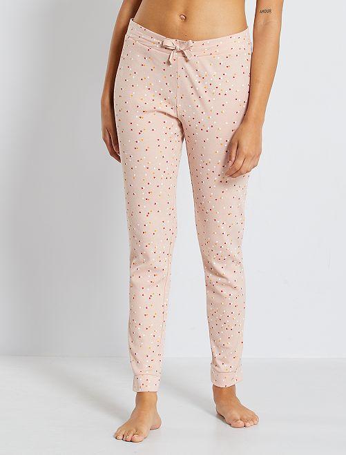 Pantalon imprimé                                                                 rose