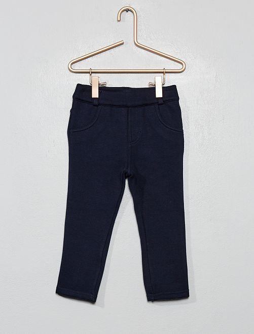 Pantalon intérieur velours                                 bleu marine