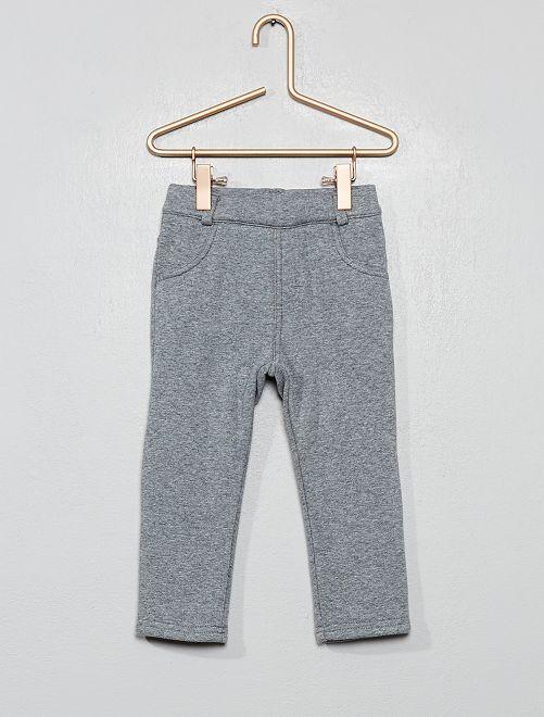 Pantalon intérieur velours                                                     gris