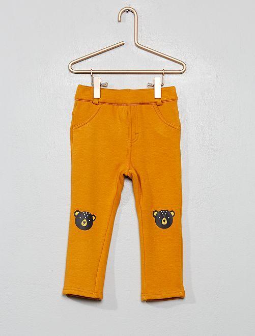 Pantalon intérieur velours                                         jaune