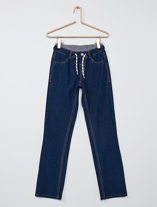 Pantalon jean adapté                             bleu