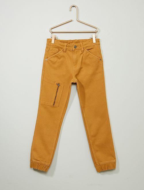 Pantalon jean jogger                                                     camel