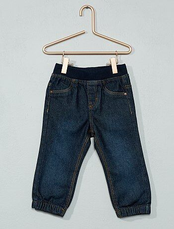 Pantalon jegging denim doublé