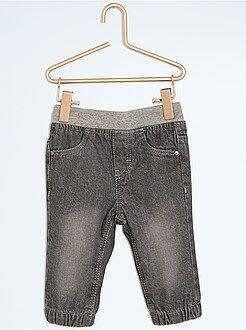 Pantalon jegging denim doublé