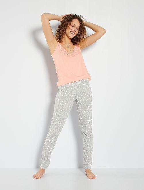 Pantalon jersey imprimé                                                                                                                 gris