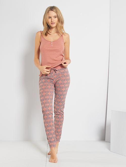 Pantalon jersey                                                                 rose corail