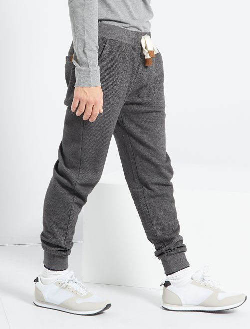 Pantalon jogging chiné                                                                                         anthracite