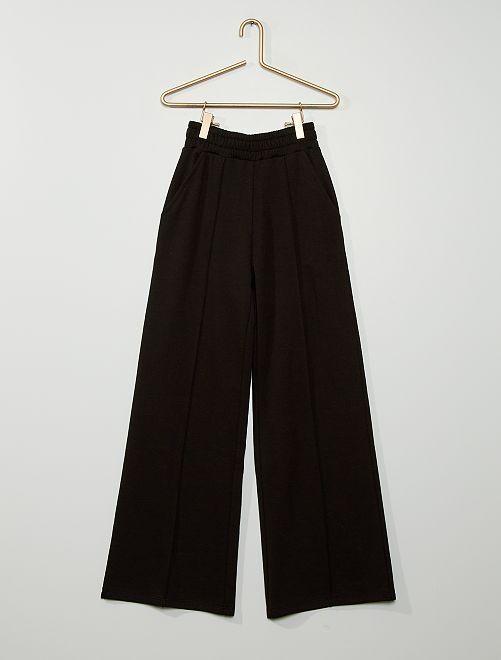 Pantalon jogging coupe large                             noir