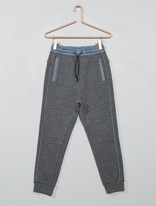 Pantalon jogging en piqué de coton                                                     gris