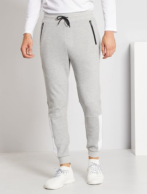 Pantalon jogging piqué                                         gris clair