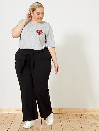 Pantalon large à nouer à la taille - Kiabi
