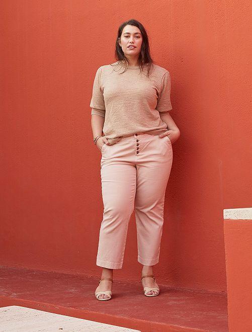 Pantalon large coloré                                         rose