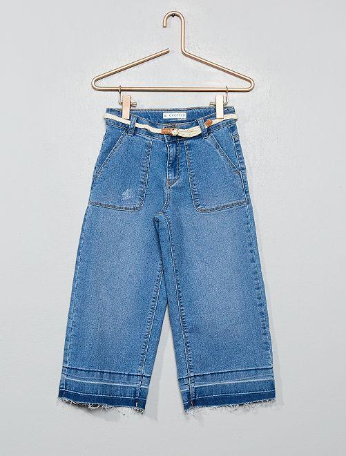 Pantalon large cropped                                         bleu
