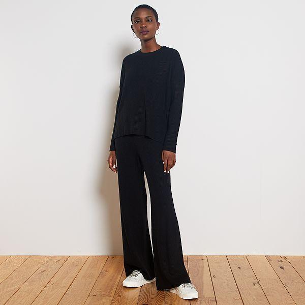 pantalon femme large