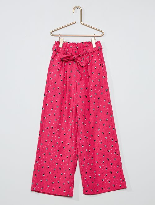 Pantalon large et fluide                                                                             ROSE
