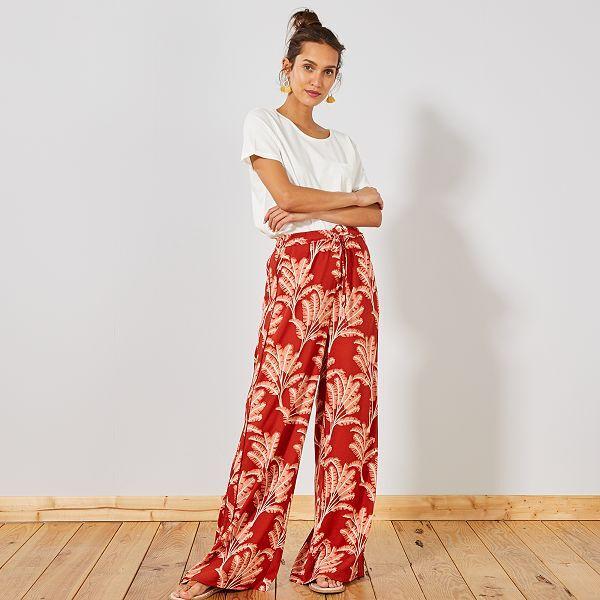 exclusive range on feet images of various design Pantalon large fluide bandes côtés