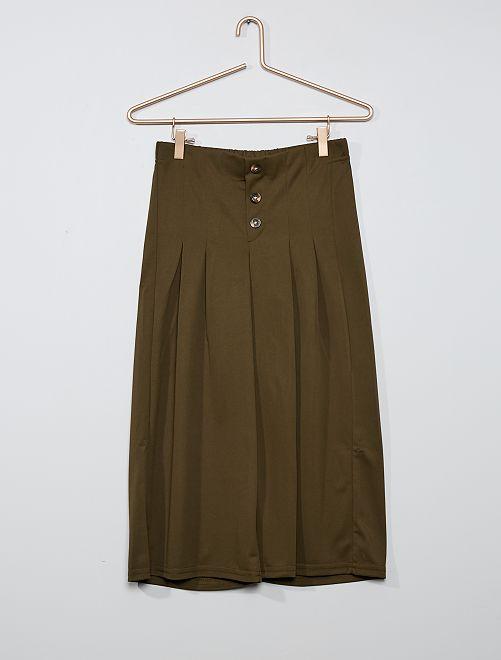 Pantalon large fluide                             kaki
