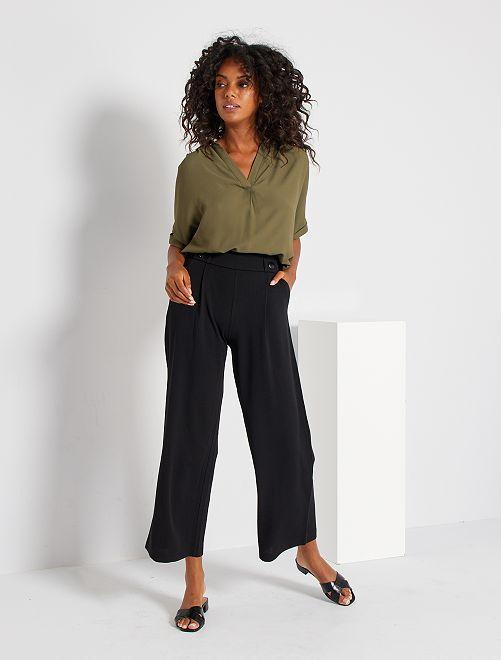 Pantalon large fluide                             noir