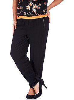 Pantalon noir - Pantalon large fluide