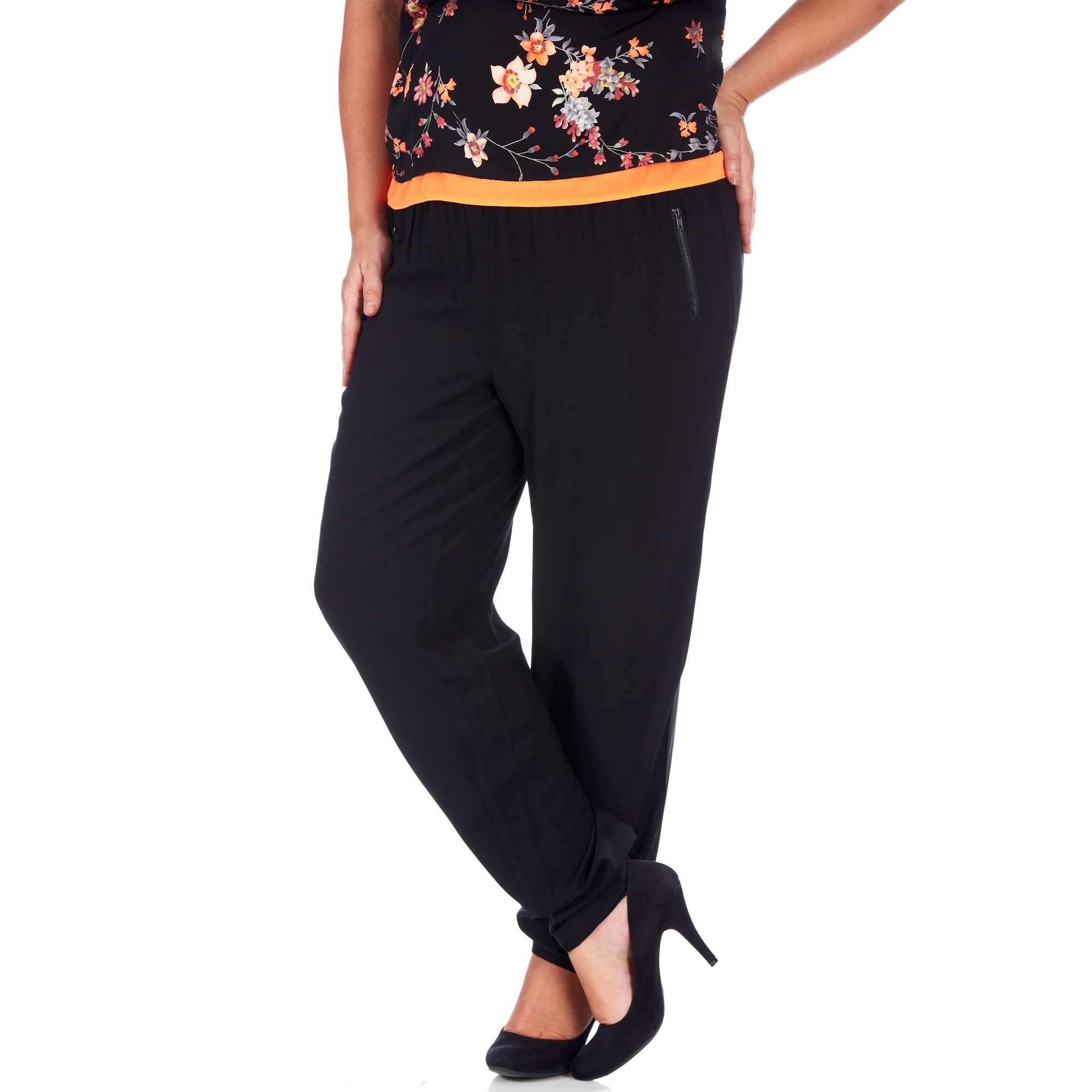 pantalon large fluide grande taille femme kiabi 20 00. Black Bedroom Furniture Sets. Home Design Ideas