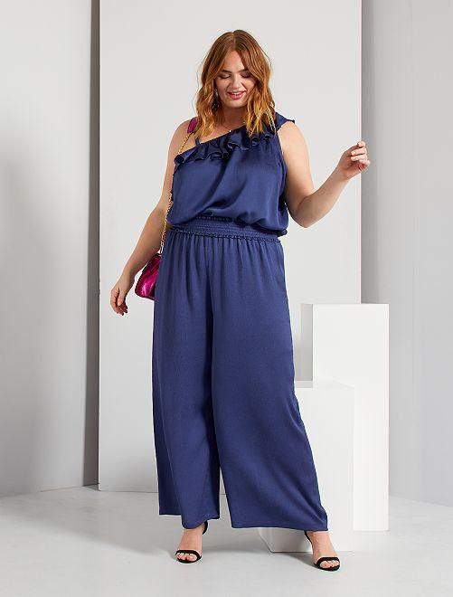 Pantalon large glam                             bleu cobalt
