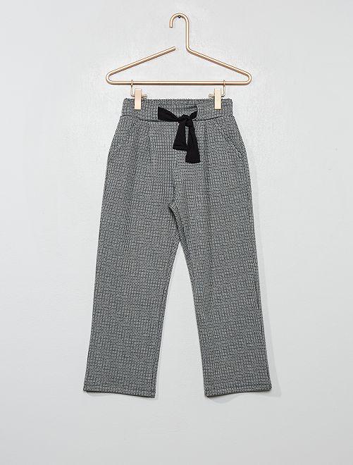 Pantalon large imprimé pied de puce                             gris