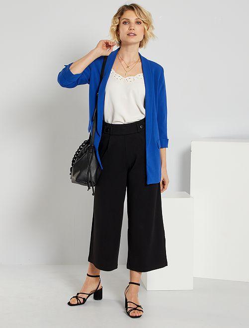Pantalon large 'JDY'                             noir