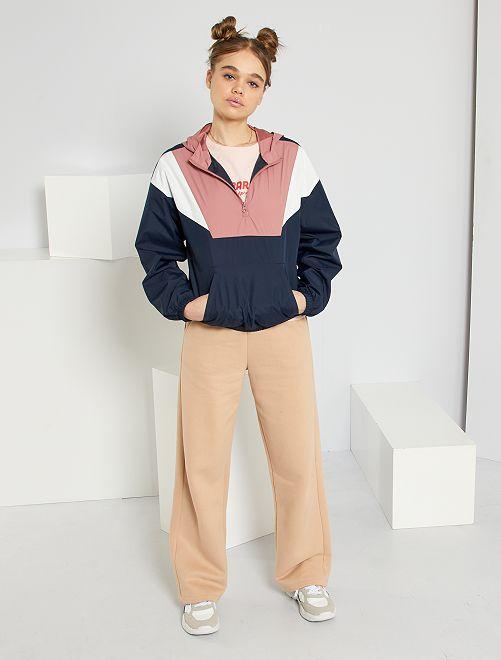 Pantalon large molletonné                             beige