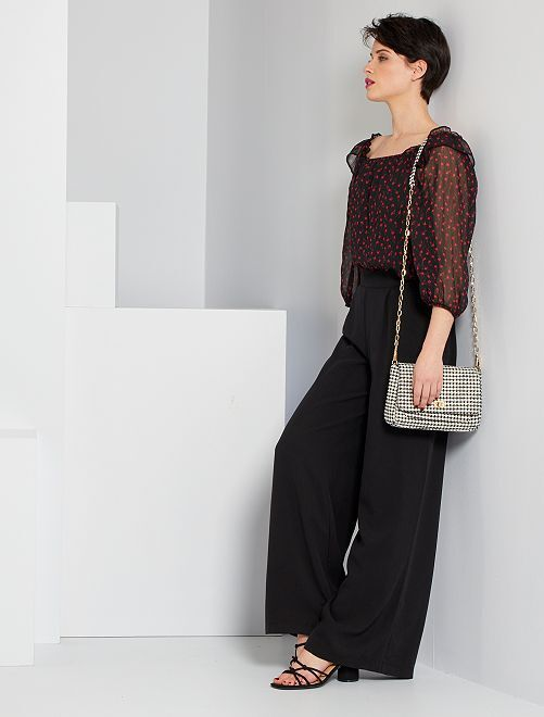 Pantalon large                     noir