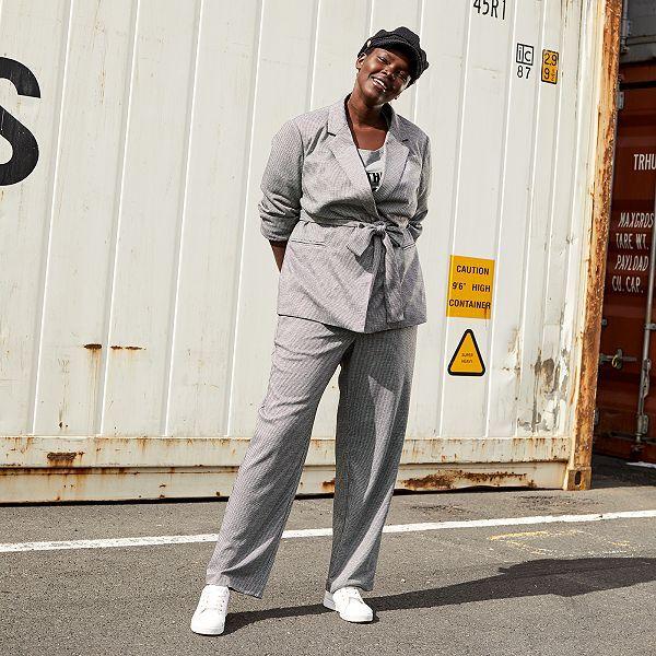plus grand choix couleur rapide réputation fiable Pantalon large style blazer