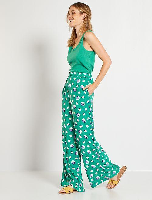 Pantalon large                                                                                         vert