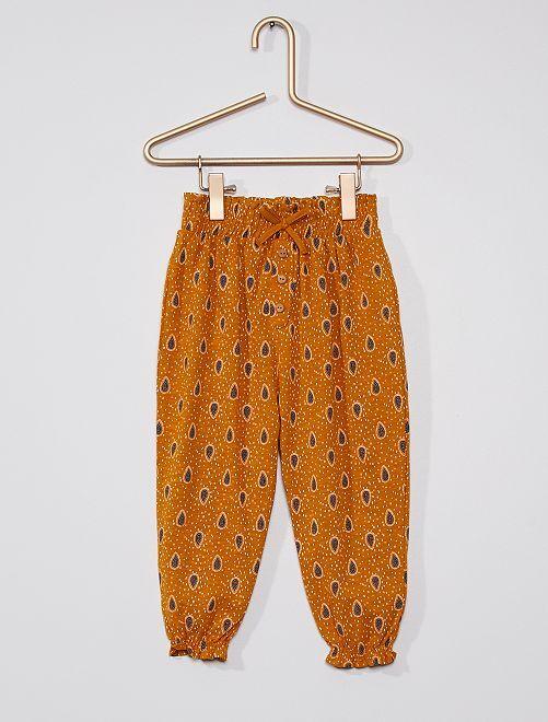 Pantalon léger à motifs                                                                 jaune curry