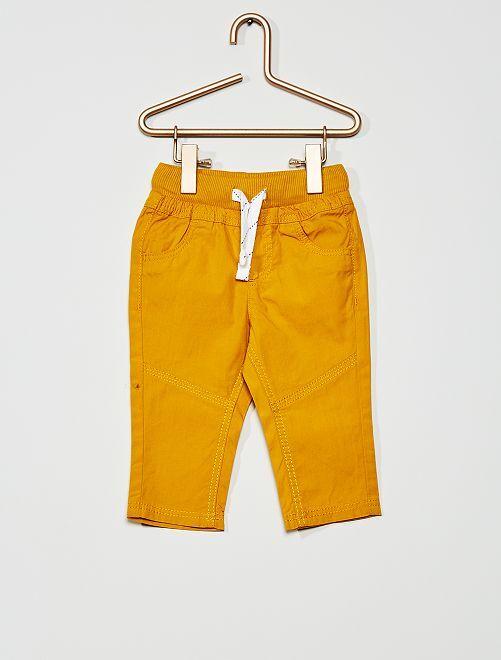 Pantalon léger en popeline                                                                                         jaune