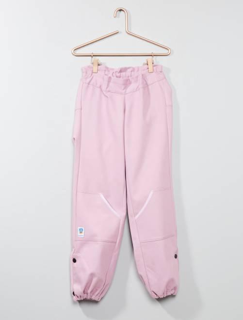Pantalon 'Les loups bleus' adapté pour fauteuil                                         rose Fille adolescente