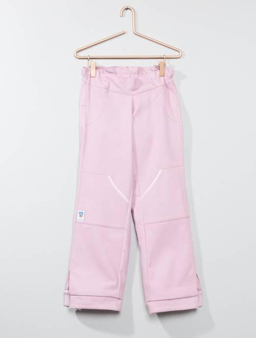 Pantalon 'Les loups bleus' adapté pour fauteuil                                         rose Fille