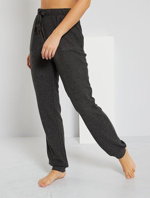 Pantalon maille douce                                         gris