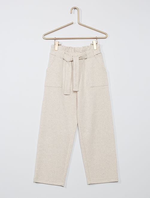 Pantalon maille lourde                                         beige clair