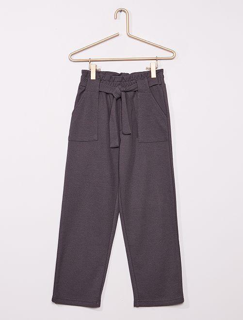 Pantalon maille lourde                                                                 gris foncé