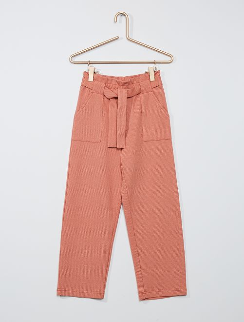 Pantalon maille lourde                                                                 orange/beige