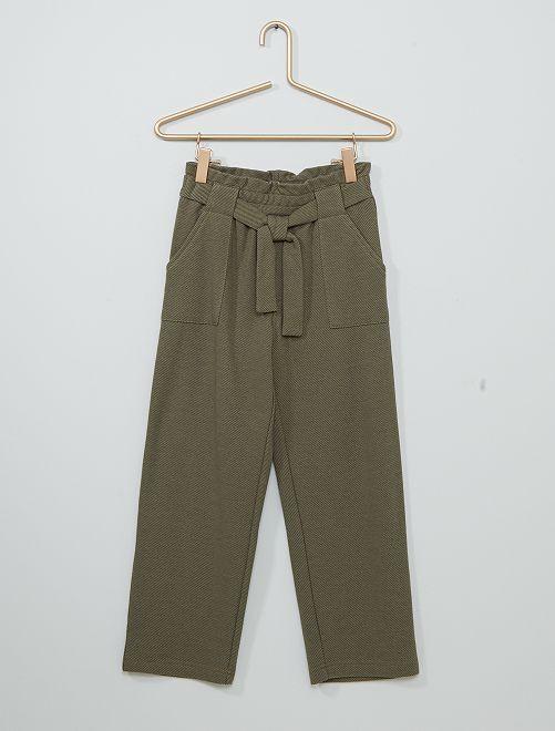 Pantalon maille lourde                                         vert lichen
