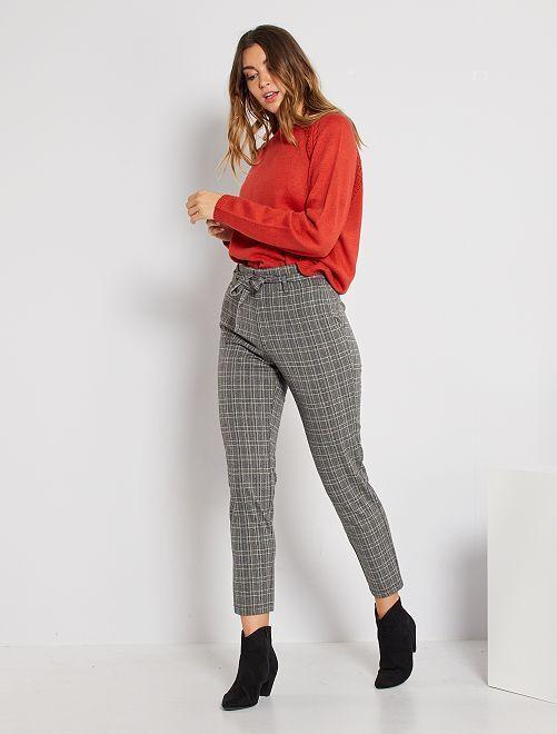 Pantalon maille milano slim                                         gris