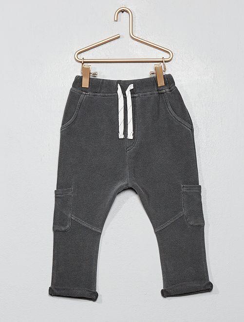 Pantalon maille ottoman                                         gris foncé
