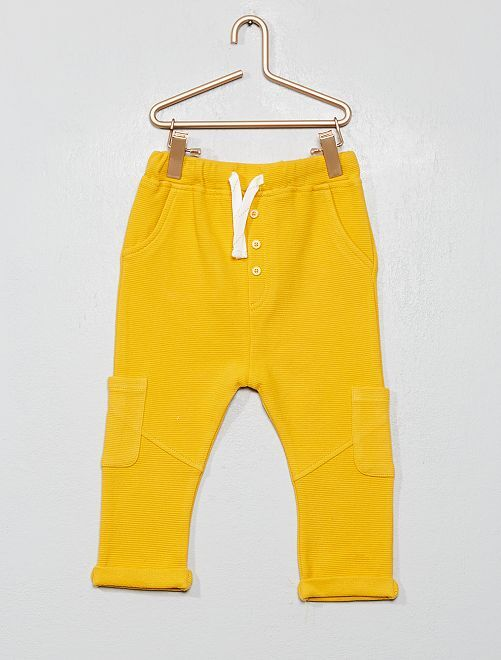 Pantalon maille ottoman                             jaune